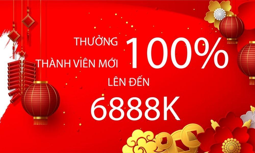 Khuyến mãi đến 6888k tiền cược